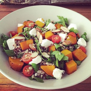 roast pumpkin feta salad nutrition