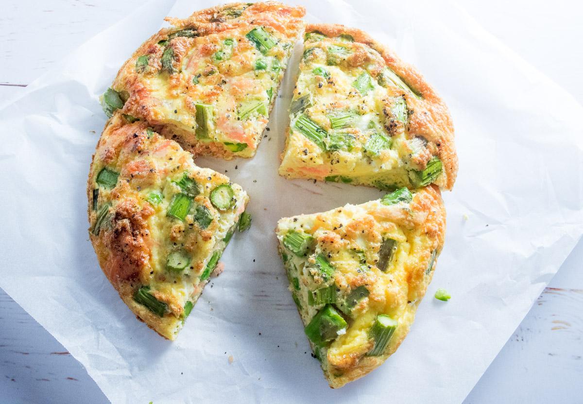 Salmon, Asparagus and Pea Frittata | Shift Nutrition