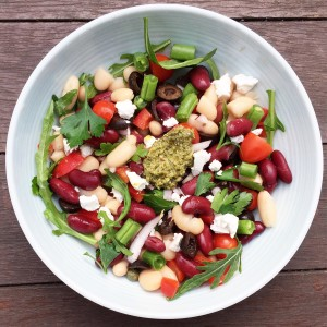 mixed bean salad nutrition