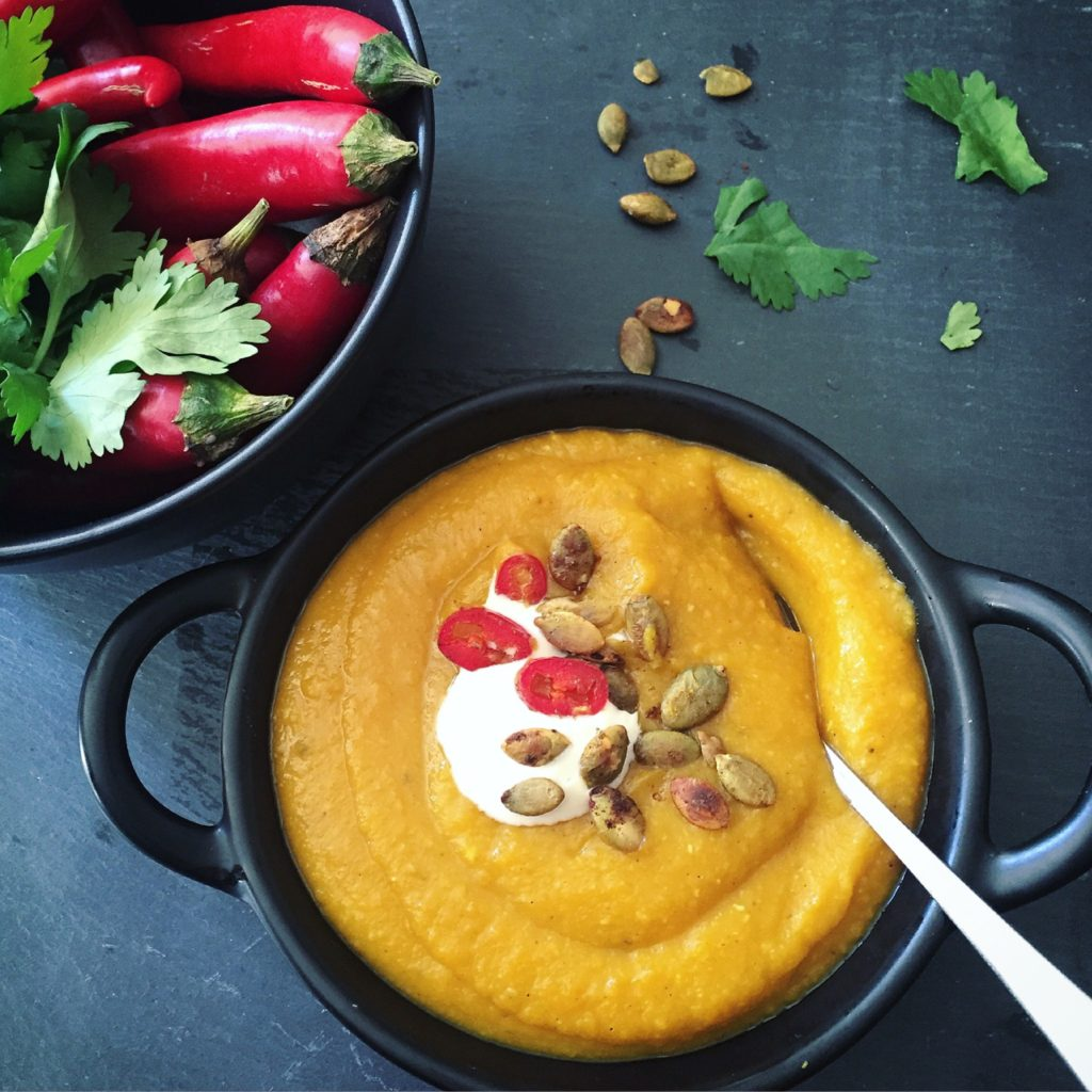 Quick Pumpkin Dhal Soup