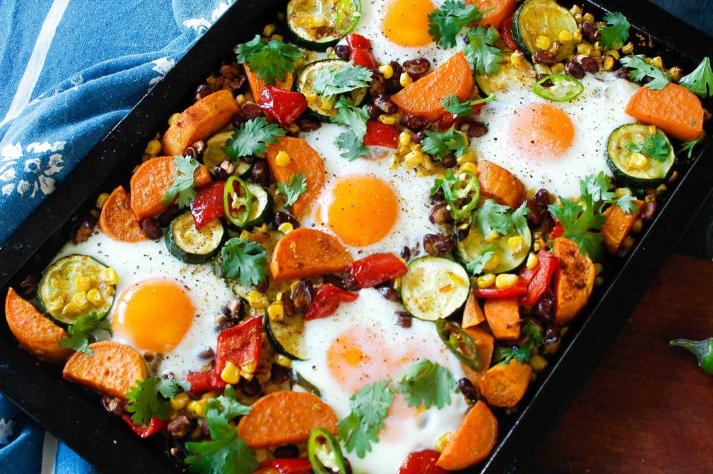 Mexican egg hash
